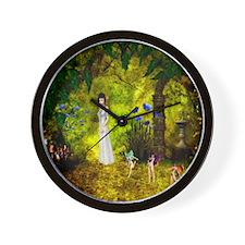 Visit to the Fairiy Garden Wall Clock
