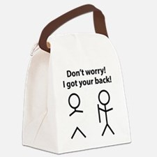 gotYourBack3A Canvas Lunch Bag