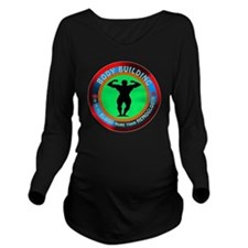 Body Building Design Long Sleeve Maternity T-Shirt