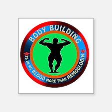 """Body Building Designs Square Sticker 3"""" x 3"""""""