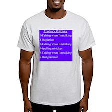 Pet Hates 1 PURPLE T-Shirt
