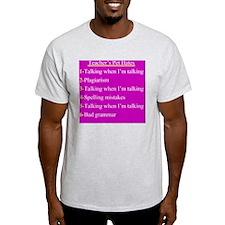 Pet Hates 1 PINK T-Shirt