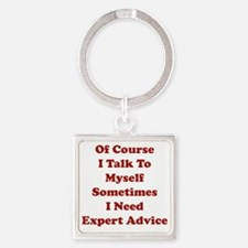 expAdvice1D Square Keychain