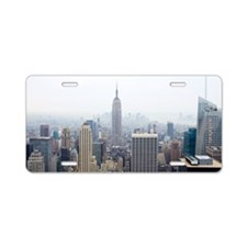 Empire State building and M Aluminum License Plate