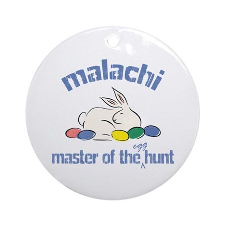 Easter Egg Hunt - Malachi Ornament (Round)