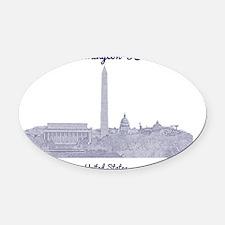 WashingtonDC_8In12_button_Blue Oval Car Magnet