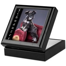 Schnauzer Puppy Keepsake Box