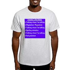 Pet Hates 2 PURPLE T-Shirt