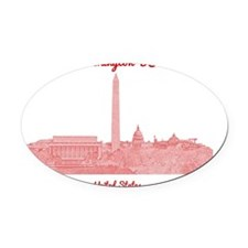 WashingtonDC_8In12_button_Red Oval Car Magnet