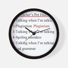 Pet Hates 2 Wall Clock