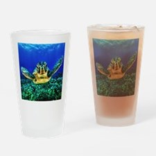 aquatic sea turtle Drinking Glass
