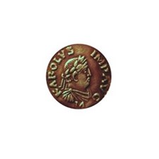 Charlemagne Coin Round Charm Mini Button