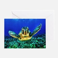 aquatic sea turtle Greeting Card