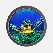 aquatic sea turtle Wall Clock