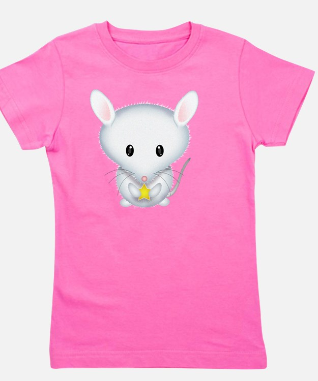 Little White Mouse Girl's Tee