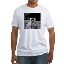 Apollo 12 on Moon Fitted Astronomy T-Shirt Gift