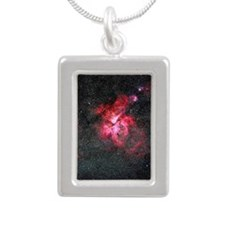 Eta Carina Nebula Silver Portrait Necklace