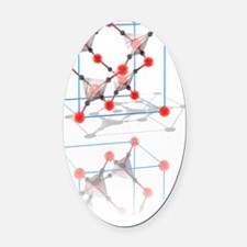 Cristobalite crystal structure Oval Car Magnet