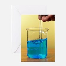 Dissolving copper sulphate crystals Greeting Card