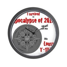 Apocalypse Survivors Shirt Wall Clock