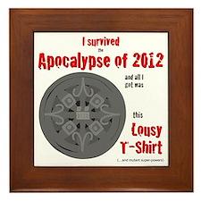 Apocalypse Survivors Shirt Framed Tile