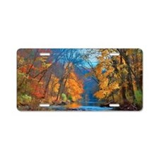 Fall colors in early Novemb Aluminum License Plate