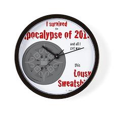 Apocalypse Survivors Sweatshirt Wall Clock