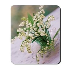 Lily of the valley (Convallaria majalis) Mousepad