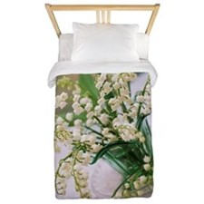 Lily of the valley (Convallaria majalis Twin Duvet