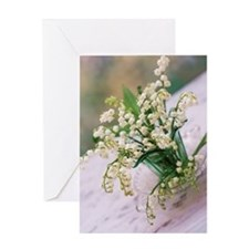 Lily of the valley (Convallaria maja Greeting Card