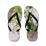 Lily of the valley Flip Flops