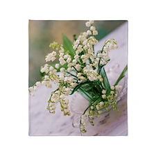 Lily of the valley (Convallaria maja Throw Blanket