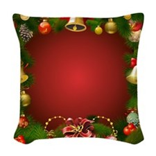 Xmas Decorations 2 Woven Throw Pillow