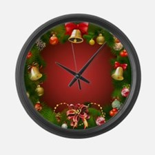 Xmas Decorations 2 Large Wall Clock