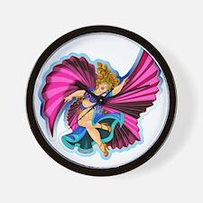 Big-n-Beautiful Winged dancer fair comp Wall Clock