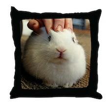 January - Bunny Bliss Throw Pillow