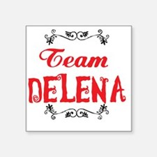 "Vampire Diaries Team Delena Square Sticker 3"" x 3"""