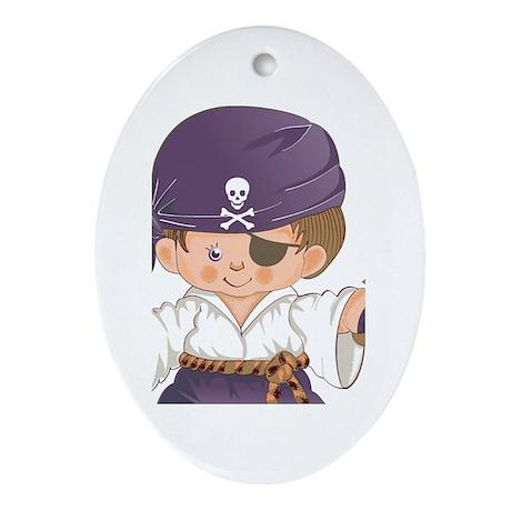 Pirate Oval Ornament