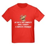 Terrify a complete stranger.. Kids Dark T-Shirt