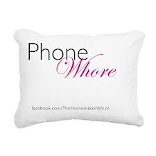 Phone Whore (w/ logo) Rectangular Canvas Pillow