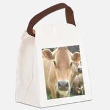 Jersey Cow Face Canvas Lunch Bag