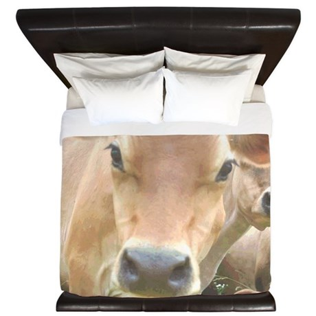 Jersey Cow Face King Duvet By Admin Cp1581317