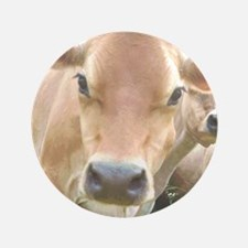 """Jersey Cow Face 3.5"""" Button"""