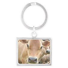 Jersey Cow Face Landscape Keychain