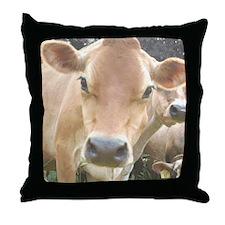 Jersey Cow Face Throw Pillow