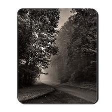 Fog in blue ridge parkway near Lynchburg Mousepad