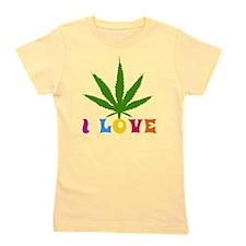 I Love Marijuana Girl's Tee