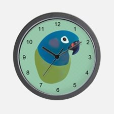 Painted Pionus Parrot Wall Clock