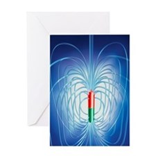 Magnetic field Greeting Card