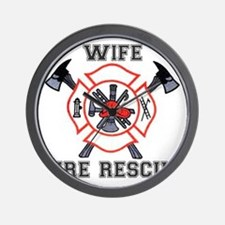 Fire Fighters Wife Wall Clock